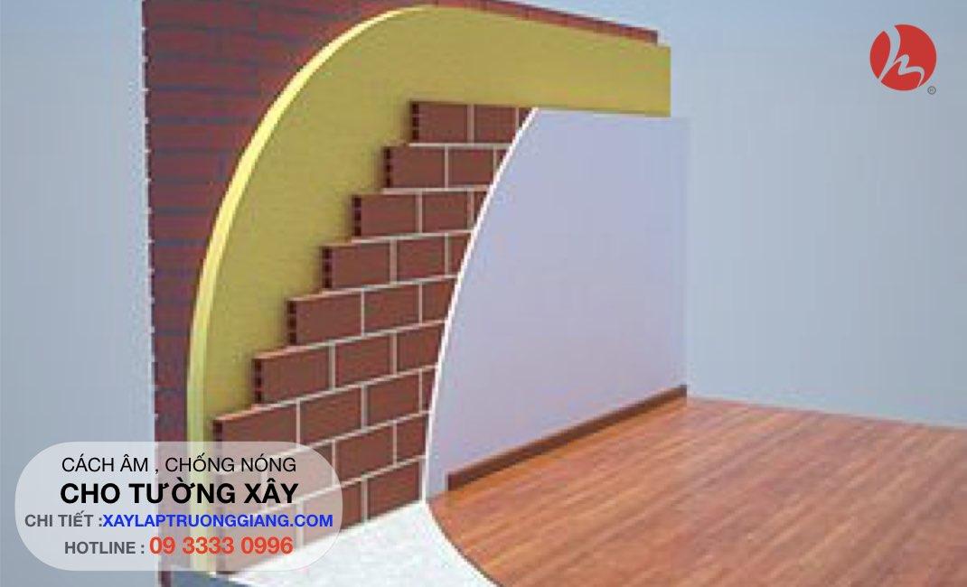 Chống nóng , cách nhiệt cho tường xây gạch - công trình cao cấp