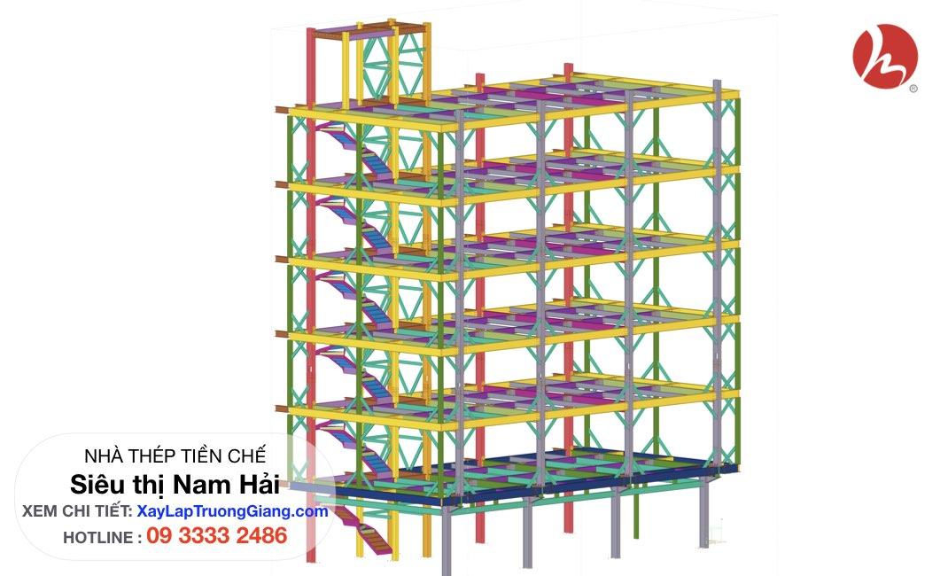 Thiết kế nhà khung thép cao 7 tầng !